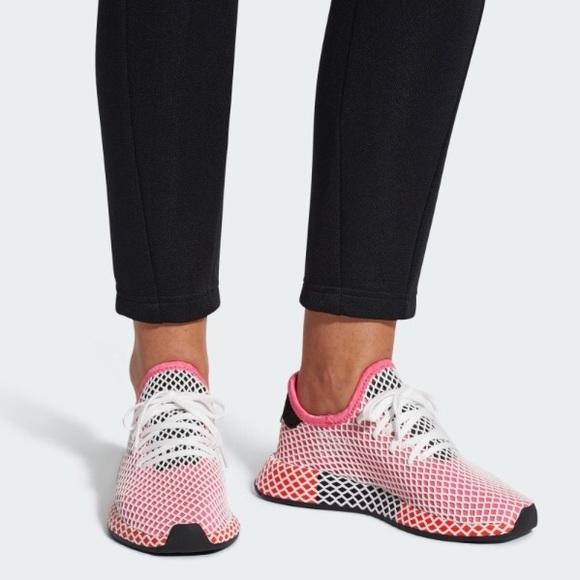 3309351d678 adidas Shoes - ADIDAS LADIES DEERUPT PINK WHITE RUNNING SHOES 5.5